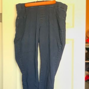 Dark blue denim jeggings; Old Navy; Plus size 20